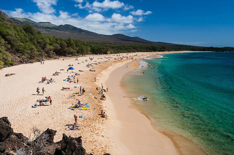 "From 2009 to 2017, the most spinal cord injuries have occurred at Makena Beach, also known as ""Big Beach"", on the Island of Maui TomKli/Shutterstock.com"