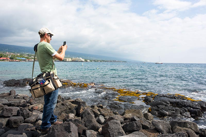 Use caution when taking pictures or selfies near the ocean. Michael Gordon/Shutterstock.com