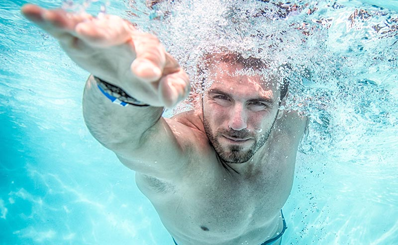 Before you go in the water, be aware of your health limits and current fitness level. Francesco Faconti/Shutterstock.com