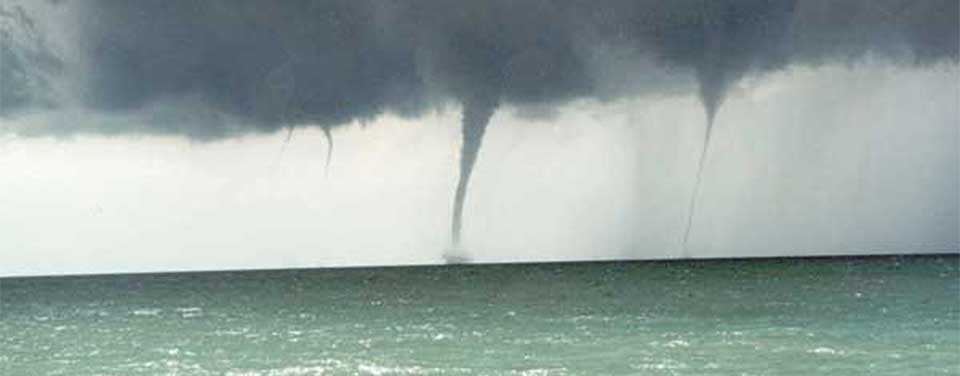 Always keep a safe distance from a waterspout. Source: National Oceanic and Atmospheric Administration (NOAA)